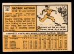 1963 Topps #357  George Altman  Back Thumbnail