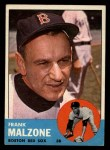 1963 Topps #232   Frank Malzone Front Thumbnail