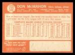 1964 Topps #122   Don McMahon Back Thumbnail
