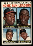1964 Topps #9  NL HR Leaders  -  Hank Aaron / Willie Mays / Orlando Cepeda / Willie McCovey Front Thumbnail