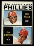 1964 Topps #243   Phillies Rookie Stars  -  Dick Allen / John Herrnstein Front Thumbnail