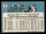 1965 Topps #56  Ron Kline  Back Thumbnail