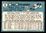 1965 Topps #89   Mike Hershberger Back Thumbnail