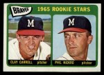 1965 Topps #461  Braves Rookies  -  Phil Niekro / Clay Carroll Front Thumbnail