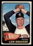 1965 Topps #462  Lew Krausse  Front Thumbnail