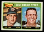 1965 Topps #181   Senators Rookie Stars  -  Don Loun / Joe McCabe Front Thumbnail