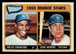 1965 Topps #453   Dodgers Rookie Stars  -  Willie Crawford / John Werhas Front Thumbnail