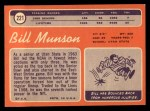 1970 Topps #221  Bill Munson  Back Thumbnail