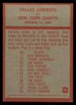 1965 Philadelphia #56  Dallas Cowboys  -  Tom Landry Back Thumbnail