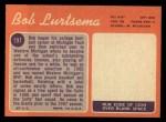 1970 Topps #197   Bob Lurtsema Back Thumbnail