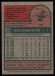 1975 Topps #455   Don Wilson Back Thumbnail