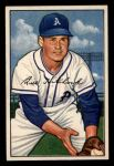 1952 Bowman #89   Billy Hitchcock Front Thumbnail