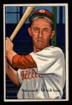 1952 Bowman #92   Eddie Waitkus Front Thumbnail