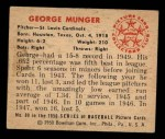 1950 Bowman #89  Red Munger  Back Thumbnail