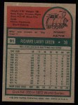 1975 Topps #91   Dick Green Back Thumbnail