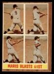 1962 Topps #313   -  Roger Maris Maris Blasts 61st Front Thumbnail