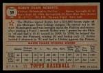 1952 Topps #59 RED Robin Roberts  Back Thumbnail