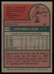 1975 Topps #116   Lerrin LaGrow Back Thumbnail