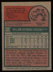 1975 Topps #613  Bill Parsons  Back Thumbnail