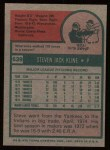 1975 Topps #639   Steve Kline Back Thumbnail