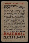 1951 Bowman #23  Hoot Evers  Back Thumbnail