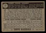 1952 Topps #77 BLK  Bob Kennedy Back Thumbnail