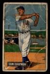 1951 Bowman #9  Sam Chapman  Front Thumbnail