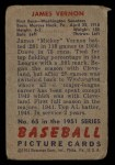 1951 Bowman #65  Mickey Vernon  Back Thumbnail