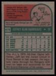 1975 Topps #470  Jeff Burroughs  Back Thumbnail
