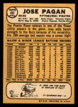 1968 Topps #482   Jose Pagan Back Thumbnail