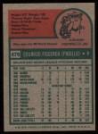 1975 Topps #476   Ed Figueroa Back Thumbnail