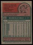 1975 Topps #495  Nelson Briles  Back Thumbnail