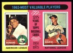 1975 Topps #201  1963 MVPs  -  Elston Howard / Sandy Koufax Front Thumbnail