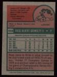1975 Topps #458   Ross Grimsley Back Thumbnail