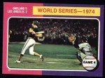 1975 Topps #464  1974 World Series - Game #4  -  Ken Holtzman / Steve Yeager Front Thumbnail