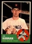 1963 Topps #121 ERR  Jim Hannan Front Thumbnail