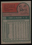 1975 Topps #482   Tom McCraw Back Thumbnail