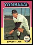 1975 Topps #485   Sparky Lyle Front Thumbnail