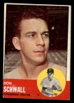 1963 Topps #344   Don Schwall Front Thumbnail