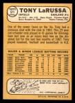 1968 Topps #571  Tony La Russa  Back Thumbnail