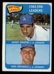 1965 Topps #8  1964 NL ERA Leaders  -  Don Drysdale / Sandy Koufax Front Thumbnail