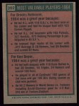 1975 Topps #202  1964 MVPs  -  Brooks Robinson / Ken Boyer Back Thumbnail