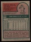1975 Topps #605   John Ellis Back Thumbnail