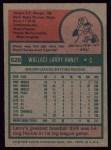 1975 Topps #626  Larry Haney  Back Thumbnail