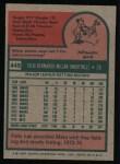 1975 Topps #445   Felix Millan Back Thumbnail