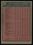 1975 Topps #464  1974 World Series - Game #4  -  Ken Holtzman / Steve Yeager Back Thumbnail