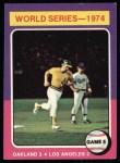 1975 Topps #465  1974 World Series - Game #5  -  Joe Rudi / Ron Cey Front Thumbnail