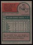 1975 Topps #488   Bill Travers Back Thumbnail