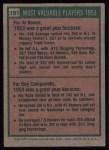 1975 Topps #191  1953 MVPs  -  Al Rosen / Roy Campanella Back Thumbnail