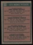1975 Topps #618   -  Scott McGregor / Rick Rhoden / Jamie Easterly / Tom Johnson Rookie Pitchers   Back Thumbnail